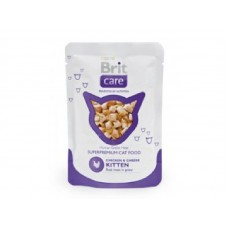 Brit Care Cat Chicken & Cheese KITTEN Pouch 80гр