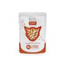 Brit Care Cat Chicken & Cheese Pouch 80гр